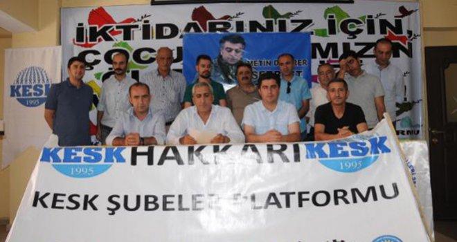 Hakkari'de KESK ve DİSK, Gaziantep saldırısını kınadı