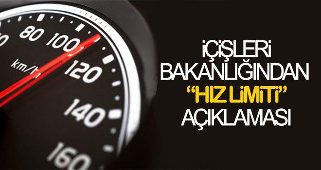 'Hız sınırı değişiyor' iddiasıyla ilgili açıklama!