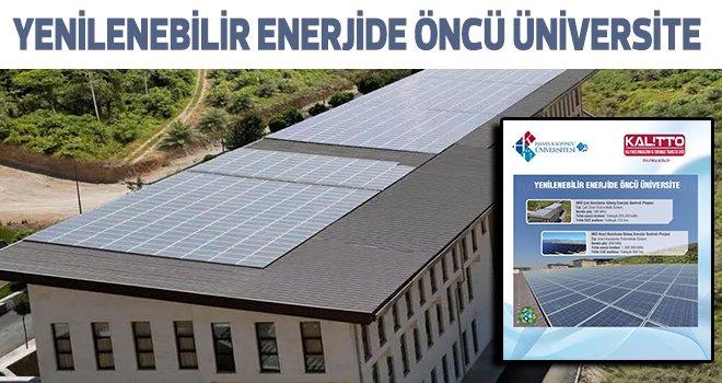 HKÜ elektrik ihtiyacını güneşten karşılıyor