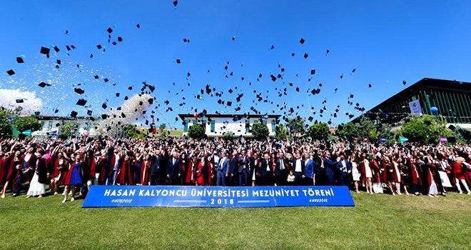 HKÜ'de 650 öğrenci mezuniyet sevinci yaşadı