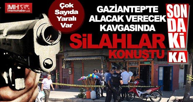 Gaziantep'te silahlı alacak verecek çatışması : 4 yaralı