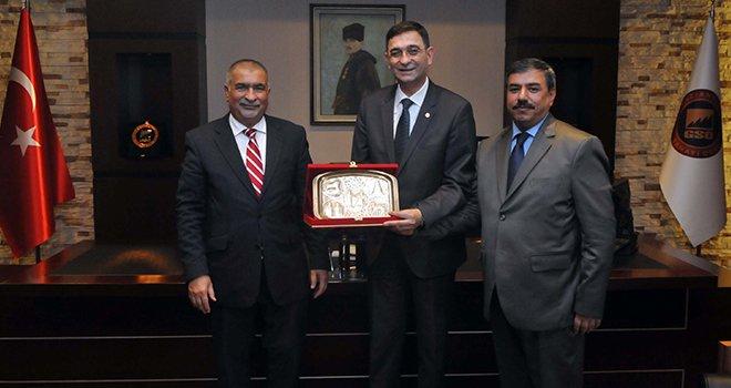 Irak Büyükelçisi ve Başkonsolosu GSO'yu ziyaret etti