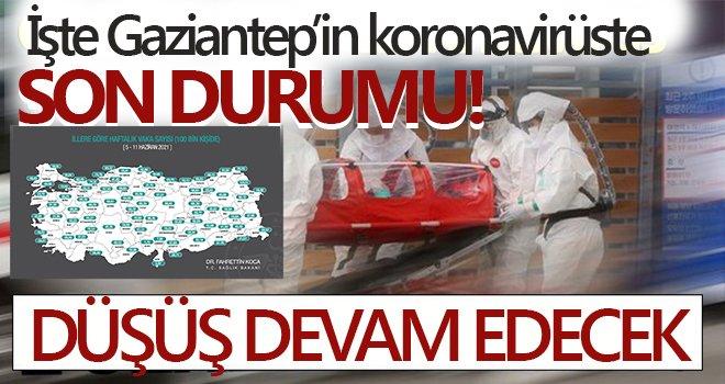 İşte Gaziantep'in güncel vaka sayıları...