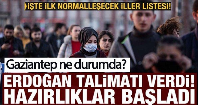 İşte mart ayında normalleşecek iller! Gaziantep'in durumu nedir?..