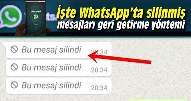 İşte WhatsApp'ta bilinmeyen bir hile daha!