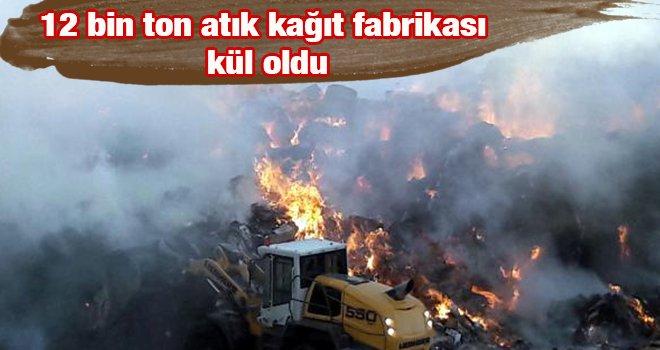 Kağıt fabrikasında korkunç yangın!..