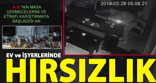 Kameradan belirlenen 2 hırsızlık şüphelisi tutuklandı
