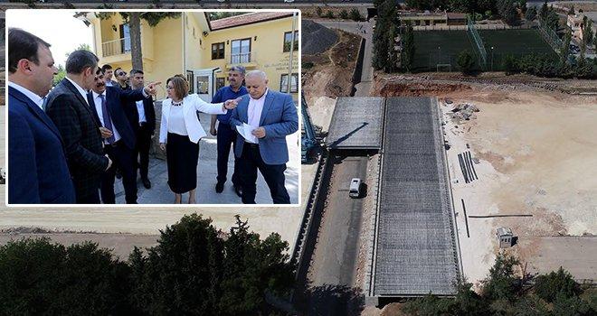 Karşıyaka Köprü inşaatı çalışmalarında sona yaklaşıldı