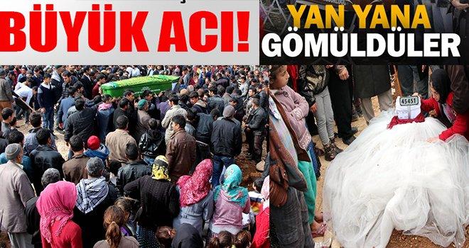 Kazada ölen 9 kişi, Gaziantep'te yan yana toprağa verildi