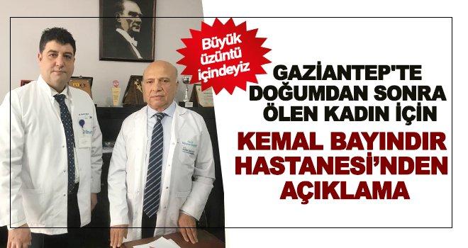 Kemal Bayındır Hastanesi'nden önemli açıklama!