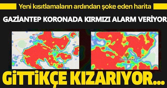 Kırmızı alarm! Gaziantep'te her yer kırmızıya boyandı