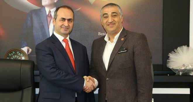Kızılaslan'dan yeni İl Sağlık Müdürü Turgut'a ziyaret