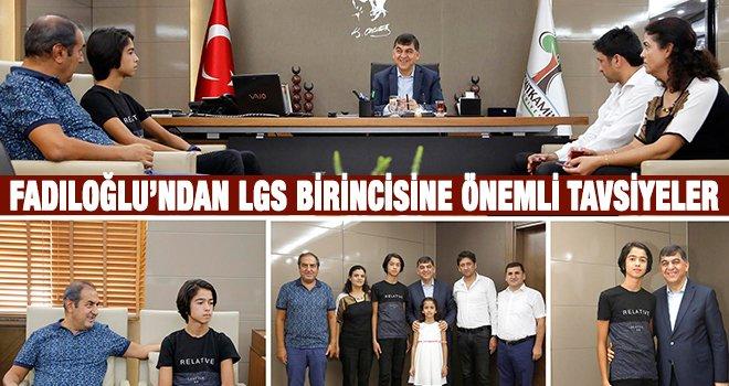 LGS Türkiye 1.'si Berke'den Fadıloğlu'na ziyaret