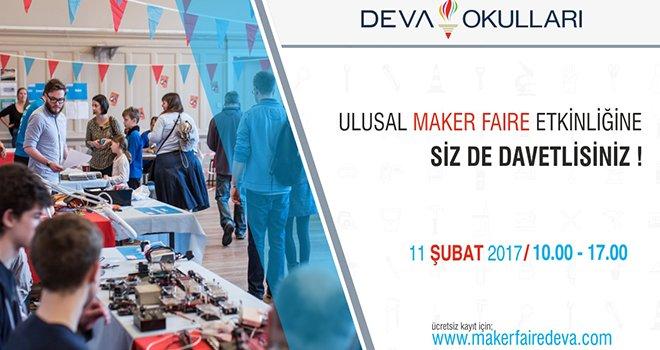 """""""Maker Faire"""" Deva Okulları'nda"""