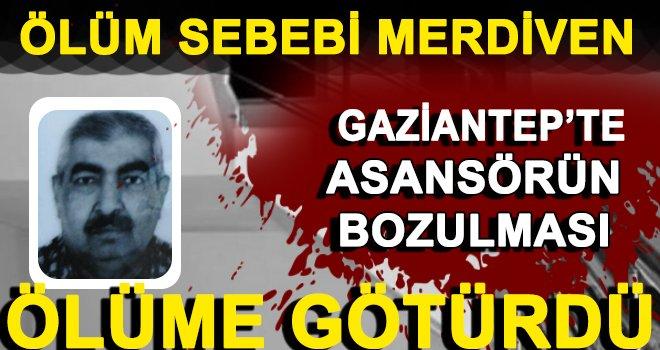 Gaziantep'te merdivenlerden çıkan şahsın feci sonu!..