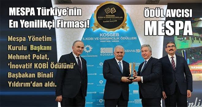 MESPA Türkiye'nin En Yenilikçi Firması!