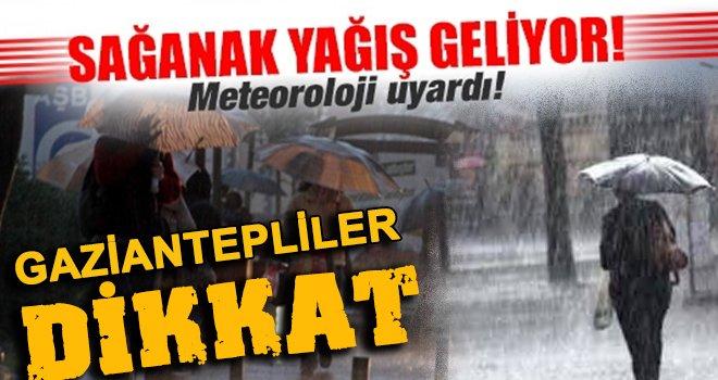 Meteorolojiden uyarı: Gaziantep için şiddetli yağış ve sel uyarısı