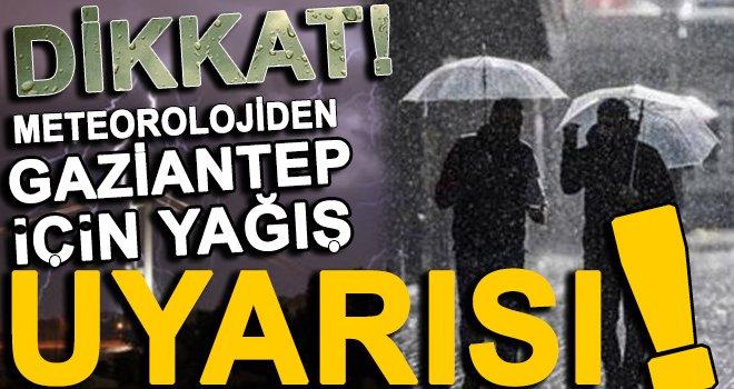 Meteorolojiden Gaziantep için şiddetli yağış ve sel uyarısı