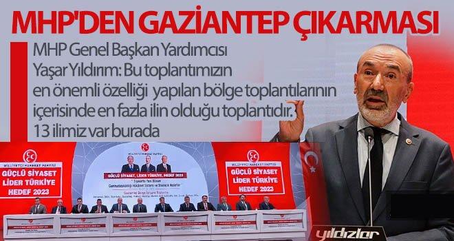 MHP Bölge İstişare Toplantısı, 13 ilin katılımıyla Gaziantep'te yapıldı