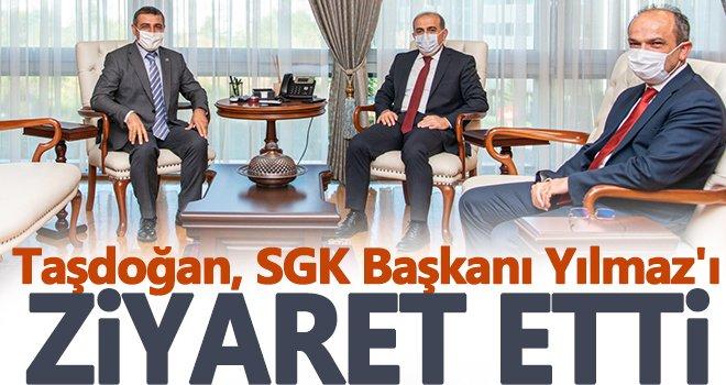 MHP Milletvekili Taşdoğan'dan  SGK Başkanı Yılmaz'a ziyaret