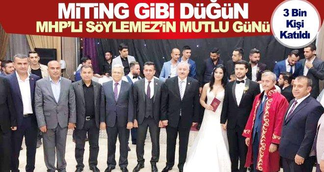 MHP'lileri buluşturan miting gibi düğün