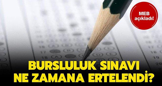Milli Eğitim Bakanlığı duyurdu! Bursluluk Sınavı ertelendi