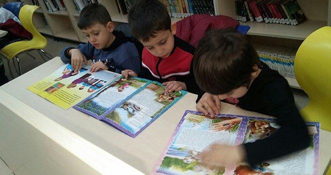 Minik GKV'liler kütüphaneyi çok sevdi