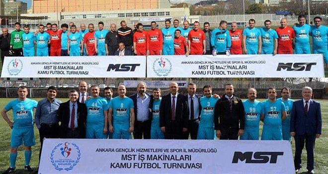 MST iş makinaları kamu futbol turnuvası
