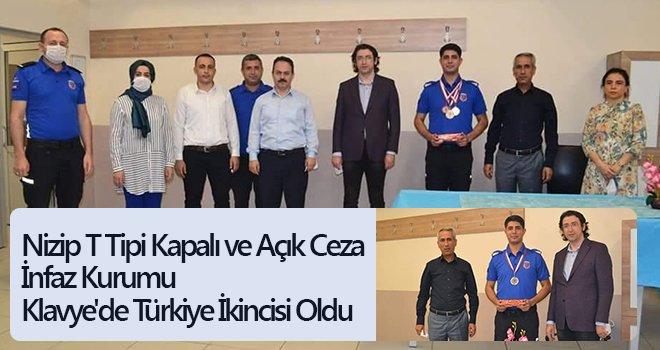 Nizip T Tipi Kapalı ve Açık Ceza İnfaz Kurumu Klavye'de Türkiye ikincisi oldu