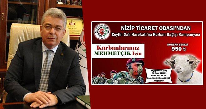 NTO'dan Zeytin Dalı Harekat'ına kurban bağışı