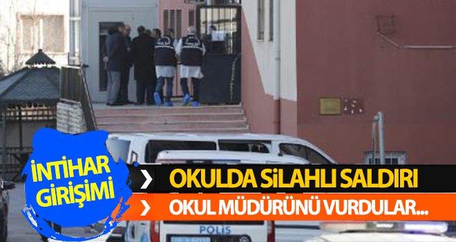 Okul müdürünü vuran güvenlik görevlisi aynı silahla intihar etti!