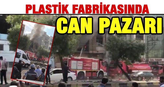 Gaziantep'te iş yeri yangını; 2 işçi dumandan etkilendi