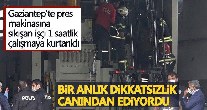 Pres makinasına ayaklarını kaptıran işçi...