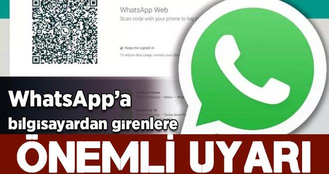 Resmen başladı! WhatsApp'a bilgisayardan girenlere uyarı