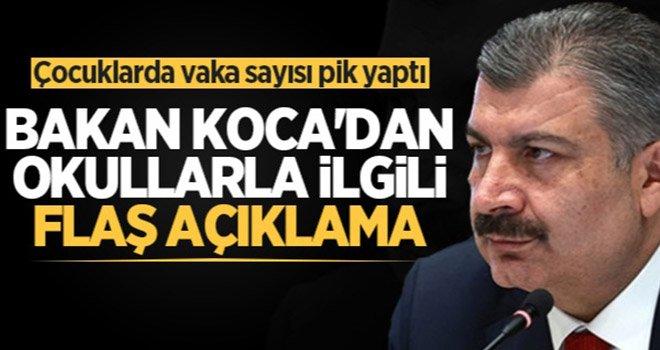 Sağlık Bakanı Koca açıkladı: Okullar asla kapanmayacak