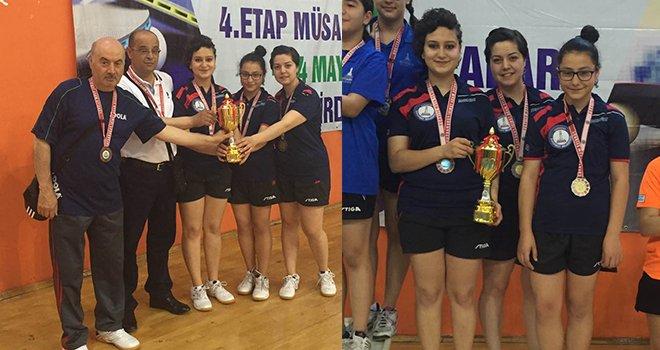 Şahinbey bayan masa tenisi takımı 2. Lige yükseldi