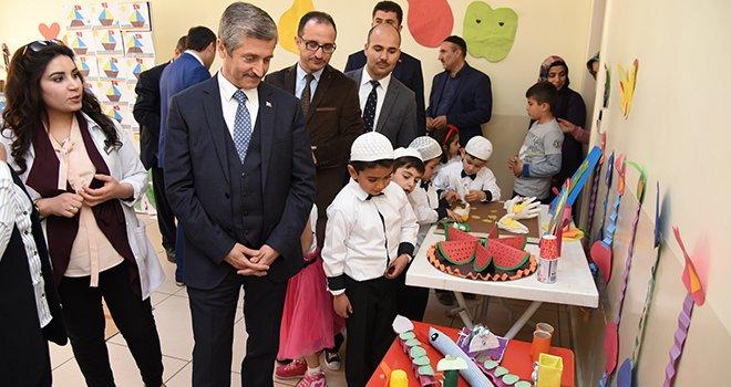 Şahinbey Belediyesi Anaokulu öğrencilerinden sergi
