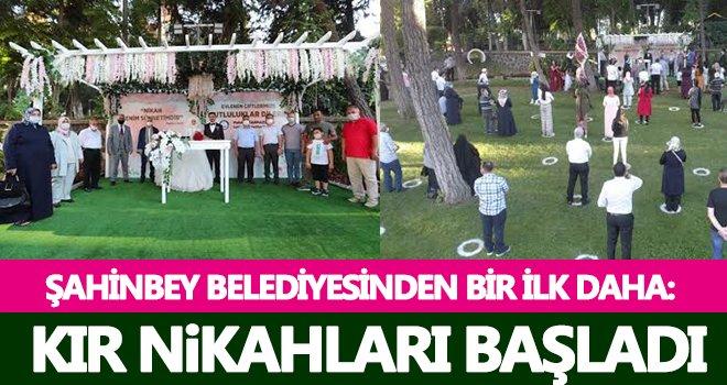 Şahinbey Belediyesi'nden kır nikahı konsepti...