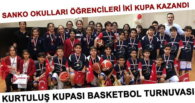 Sanko okulları öğrencileri iki kupa kazandı