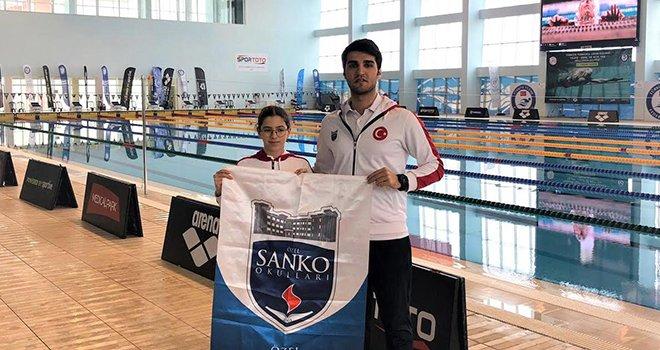 Sanko öğrencisi yüzme milli takımı seçmelerinde
