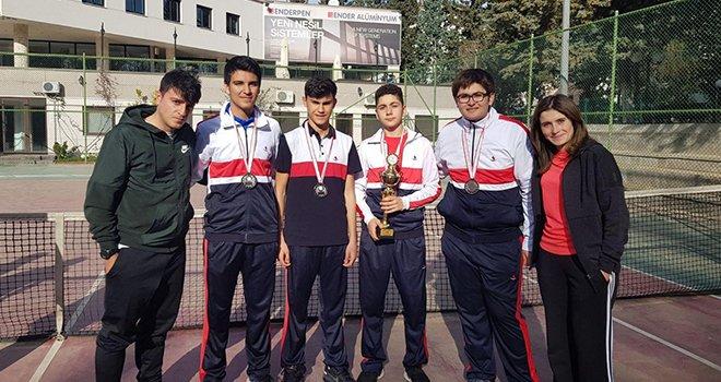 SANKO okulları tenis takımı il ikincisi