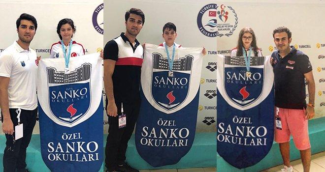 Sanko okulları yüzücüsü Beril Öztürk Türkiye ikincisi