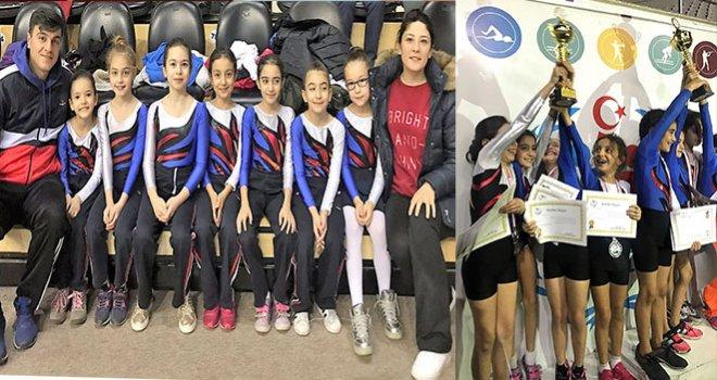 Sanko Okullarının minik kızları jimnastikte il ikincisi oldu