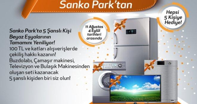 Sanko Park'tan 5 şanslı kişiye beyaz eşya