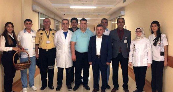 Sanko Üniversitesi Hastanesi'nde bayramlaşma