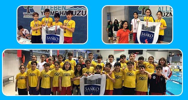 Sankolu yüzücüler 55 madalya ve 3 kupa kazandı