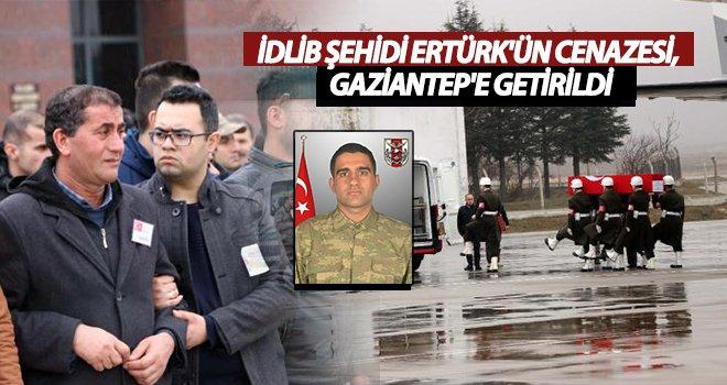 Şehit Tankçı Ertürk'ün cenazesi Gaziantep'e getirildi