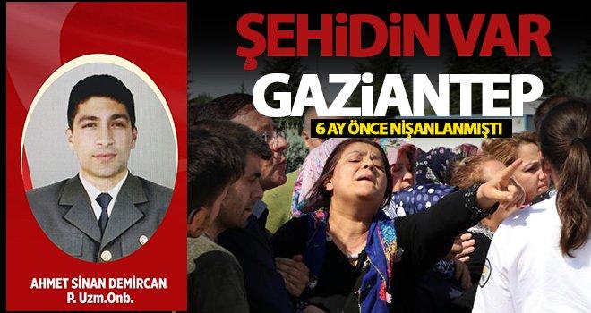 Şehit Uzman Onbaşı Demircan'ın cenazesi, Gaziantep'te