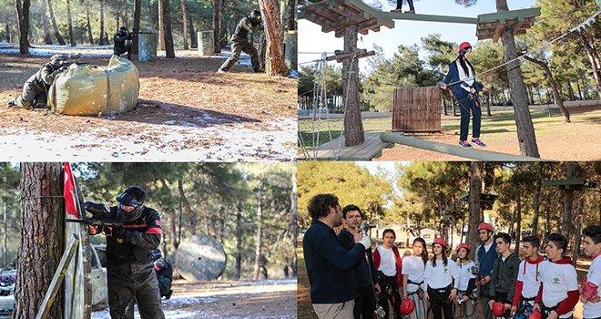 Şehitkamil'de gençler 4 mevsim kampta buluşuyor