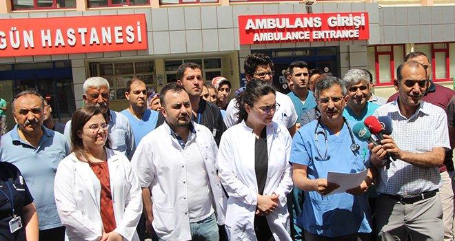 Şiddet olayları sonrası Gaziantep'te doktorlardan büyük tepki